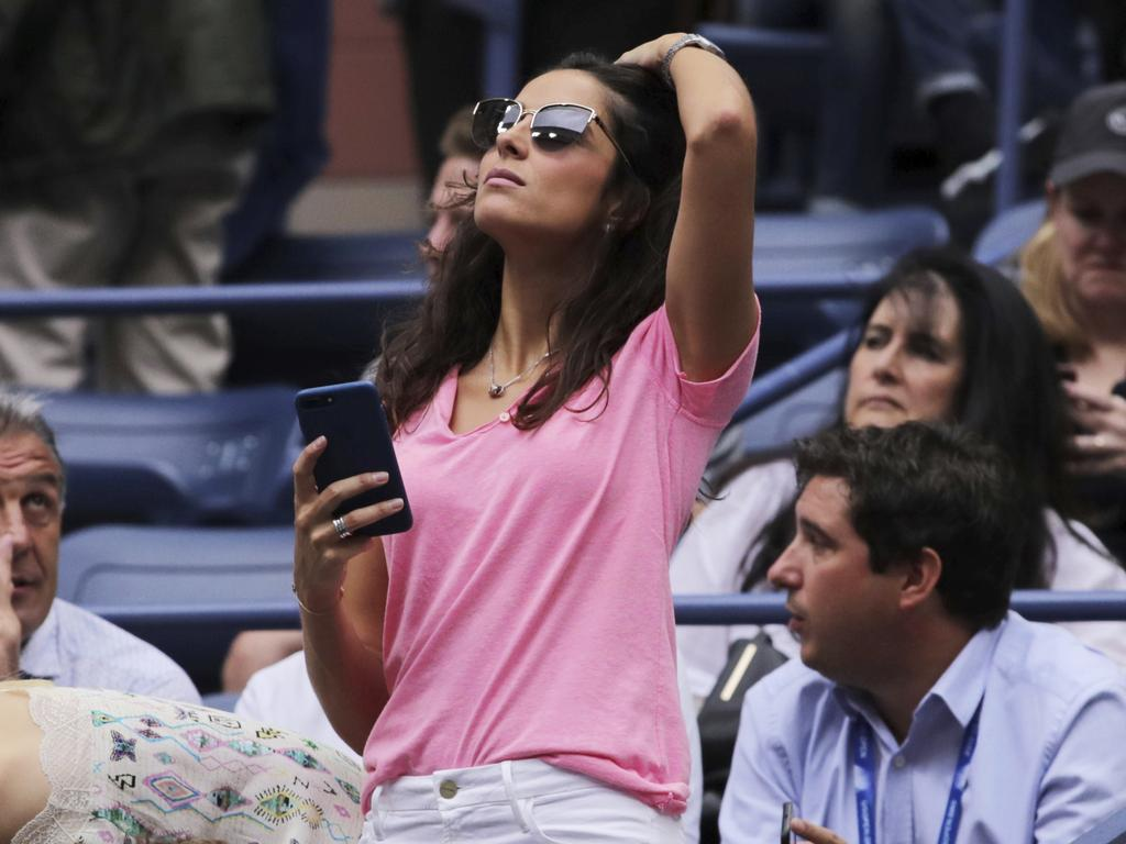 Nadal's bride-to-be Xisca Perello is in the stands. (AP Photo/Charles Krupa)