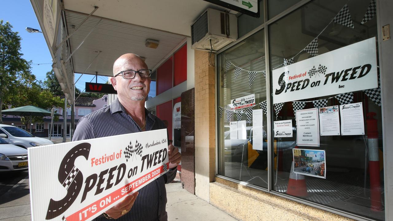The Festival of Speed on Tweed shop front manager Bill Bitossi is looking forward to promoting the events and spreading the word about it's return next year. Picture: Scott Powick.