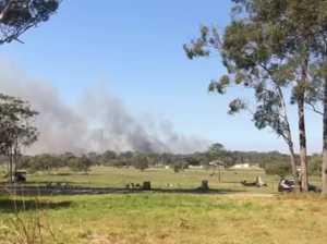 Fireys set up bushfire defence