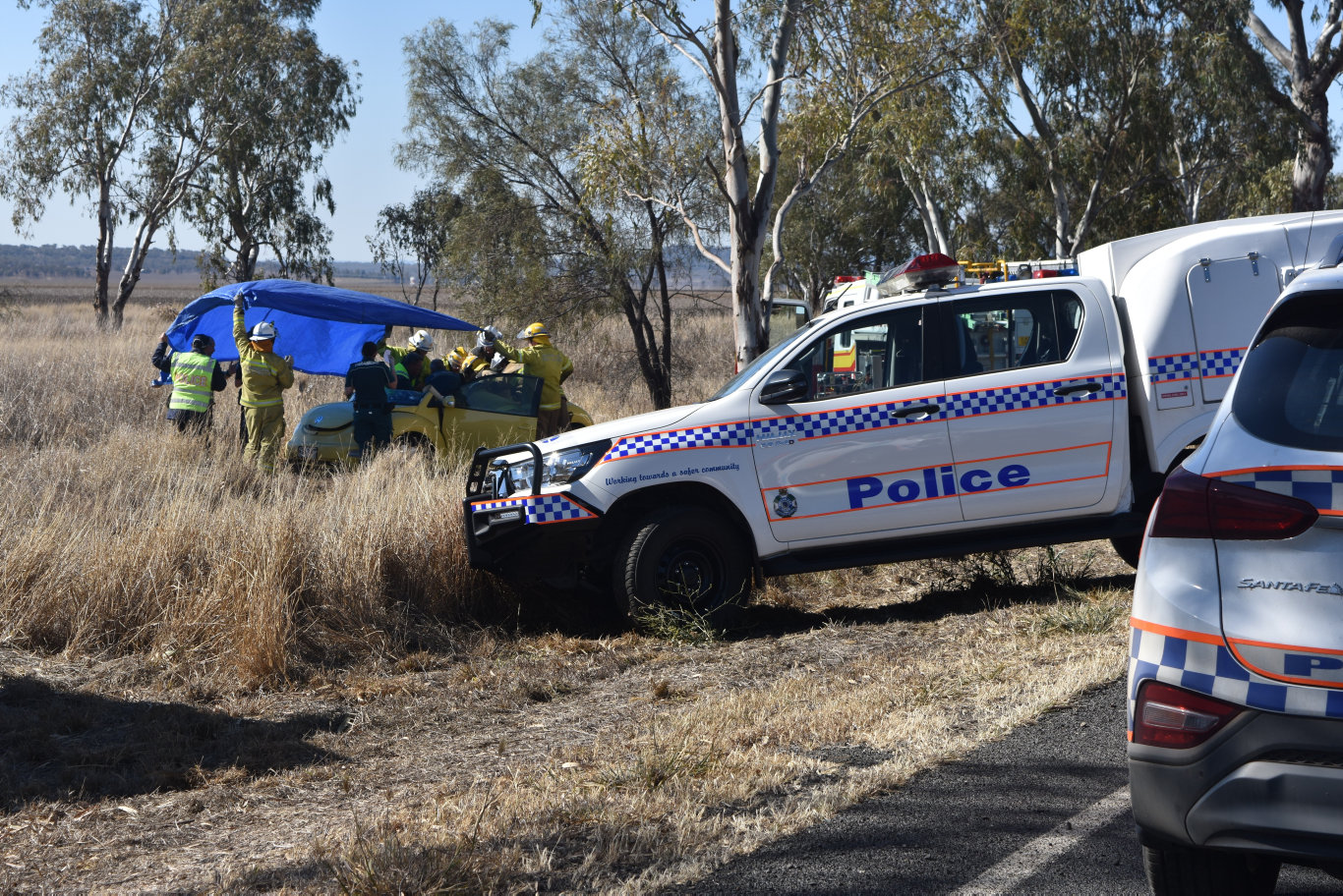 TRAFFIC CRASH: Emergency services are on scene at a traffic crash north east of Dalby.