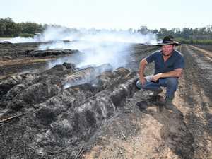 $40K DAMAGE: One stray spark lights up Coast cane field