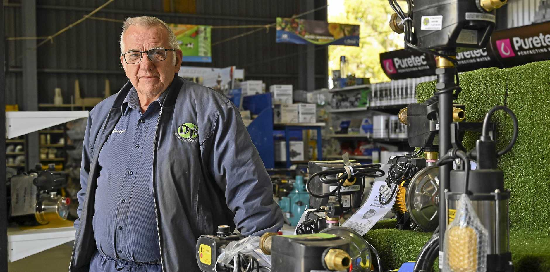 PREPARED: DJ's Electric Motor & Pump Centre owner Darryl Trapp said spring trading  started strongly.