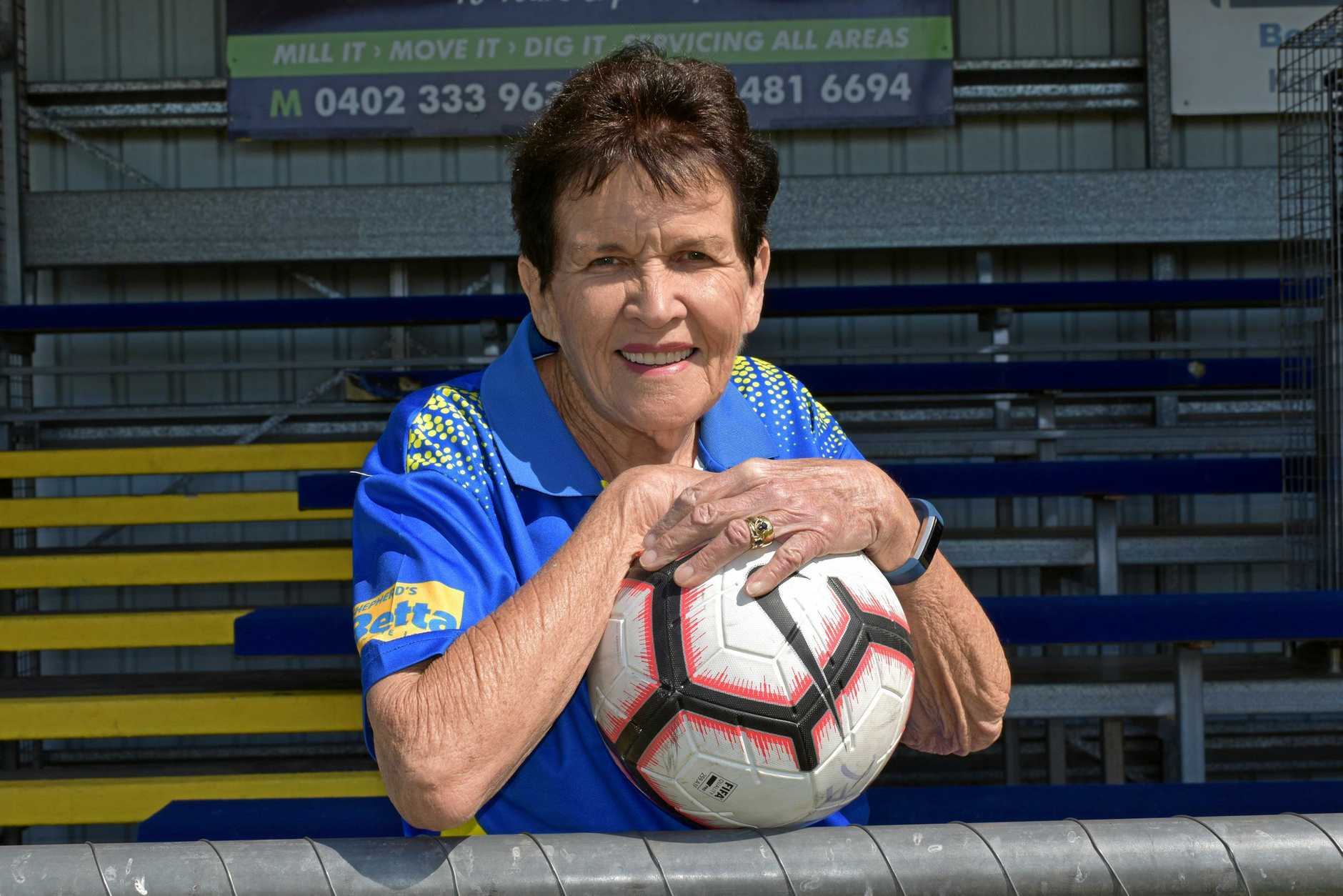 Gympie United FC - secretary Pam Tindall.