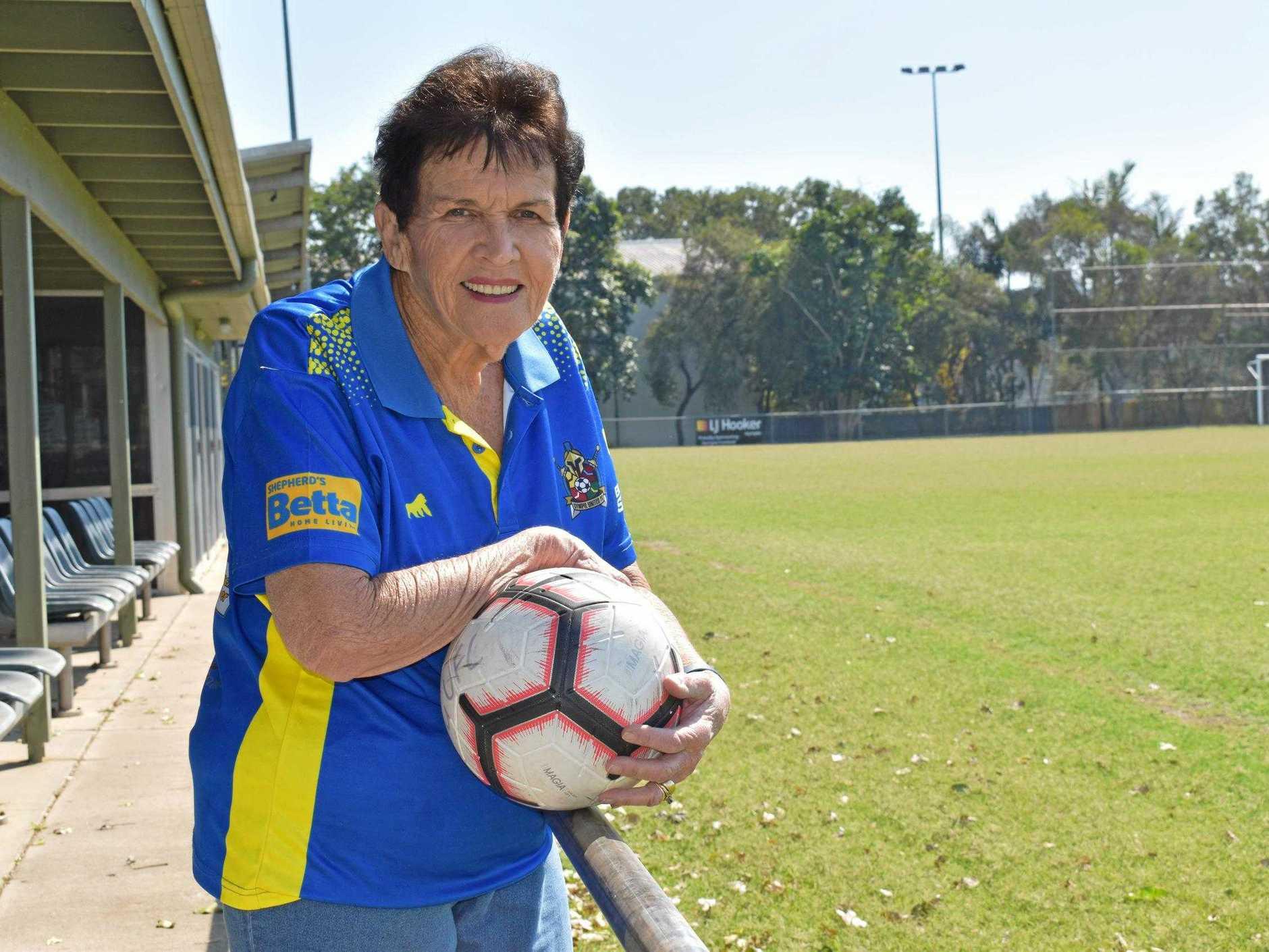 Gympie United FC - secretary Pam Tindall.