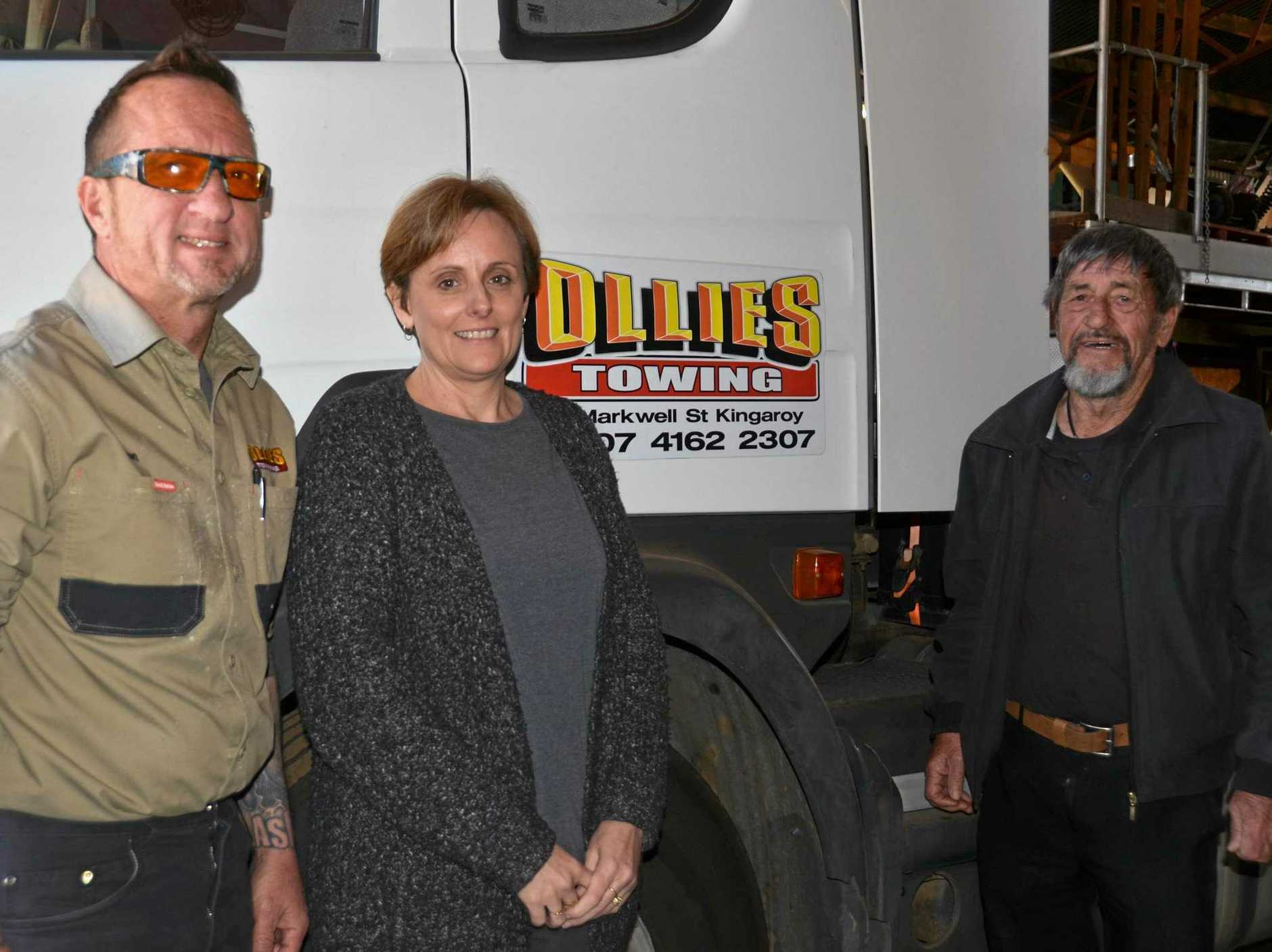 The team at Ollies Towing & Shipping Container Sales, Ron Oliver Jnr, Tina Oliver and Ron Oliver Snr, make sure to do their best for customers.