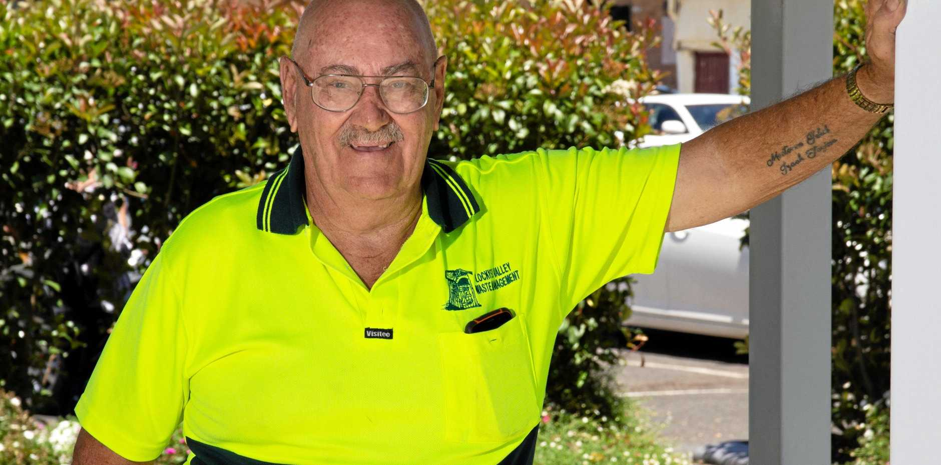 HELPING OUT: Lockyer Valley Waste Management owner John Schollick