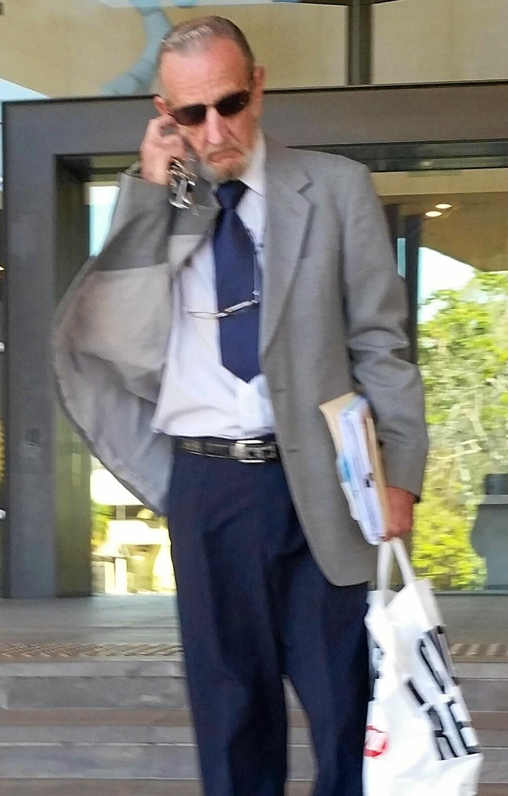 ASSAULT: Pensioner Donald Easton was convicted of assaulting his neighbours.