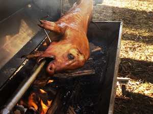 Fireys shut down pig spit fire during ban