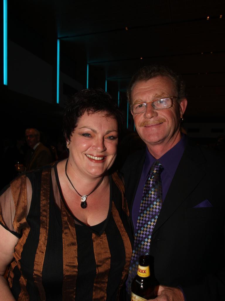Carolyn and Wayne Thomson of Kadoe Commercial Coatings at Caloundra Business Awards. Photo: Nicholas Falconer