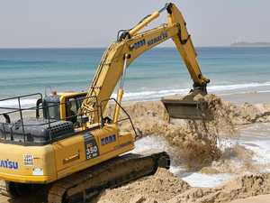 Only severe erosion should prompt sand pumping