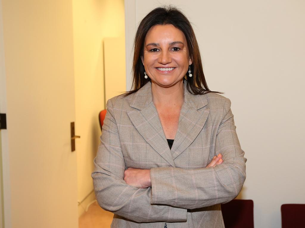 Senator Jacqui Lambie at Parliament House in Canberra.