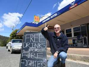 Free drinks for firies putting their lives on the line