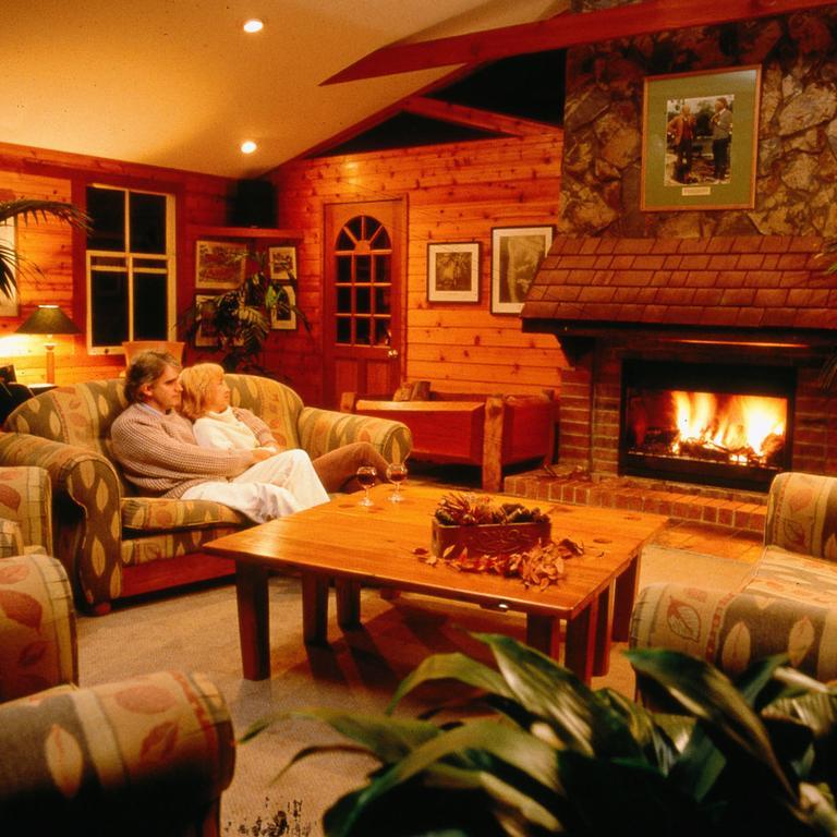 Binna Burra Mountain Lodge's much loved open fire.