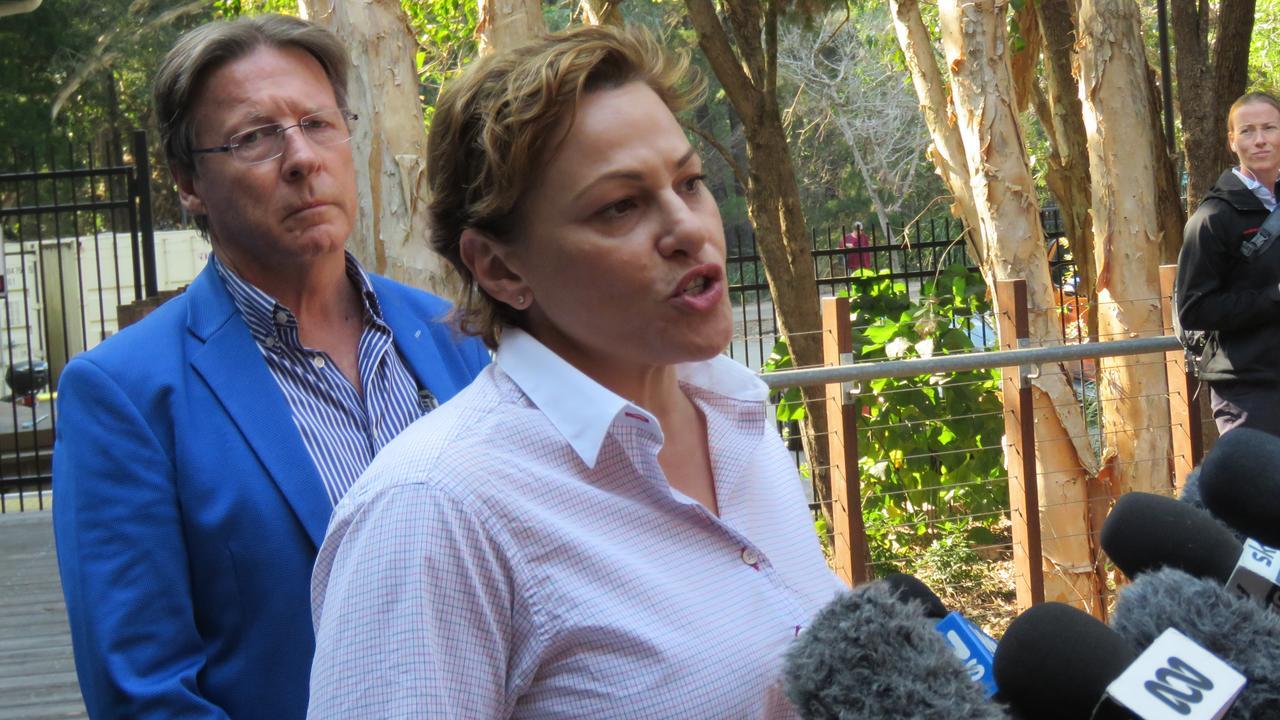 Acting Premier Jackie Trad speaking at Noosa Junction's The J on September 10.
