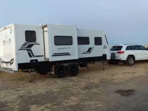 Bizarre way truckie's stolen 90k caravan was found