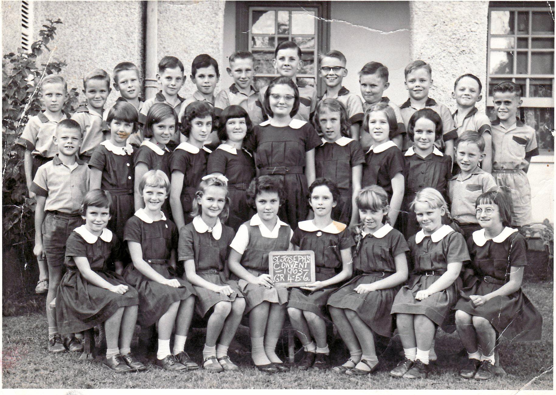 St Joseph's Convent Years 4, 5 and 6, 1963.