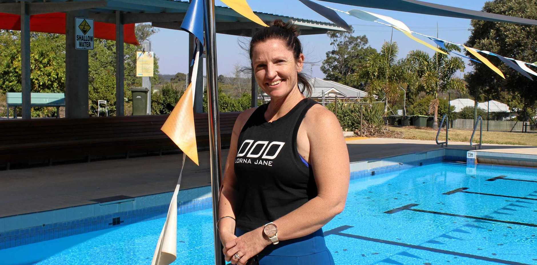 DECKED OUT: Mum of six Lori Hall has been named as the Murgon pool manager for the next two years.