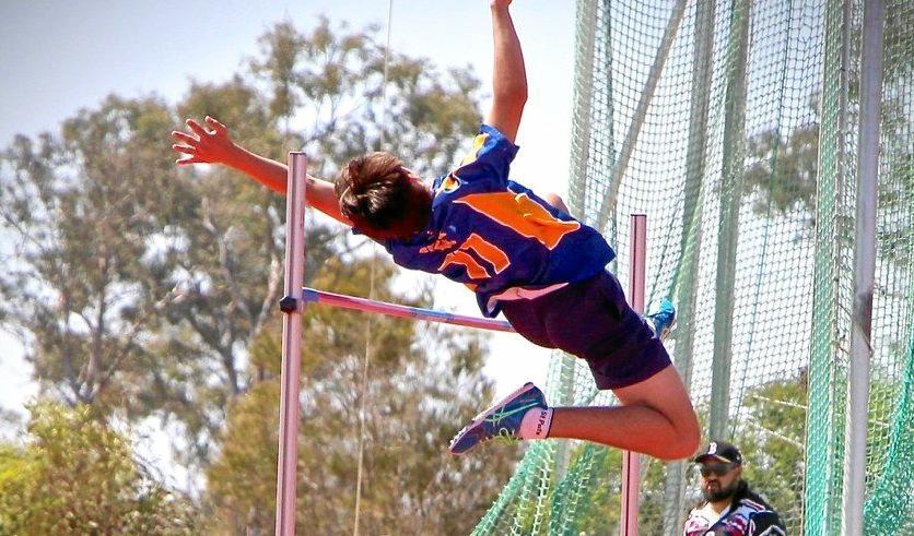 Gympie high jumper Jorey Foster in action.