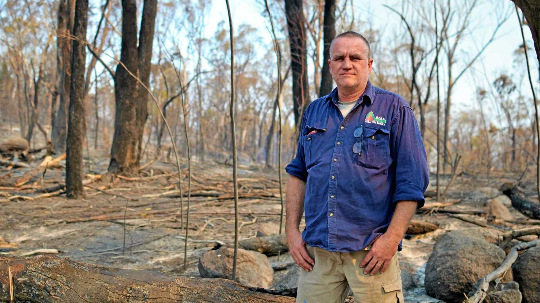 WARNING WARRANTED: Graham Parker of Ballandean Rural Fire Service in the aftermath of the Cyprus Ridge fires.
