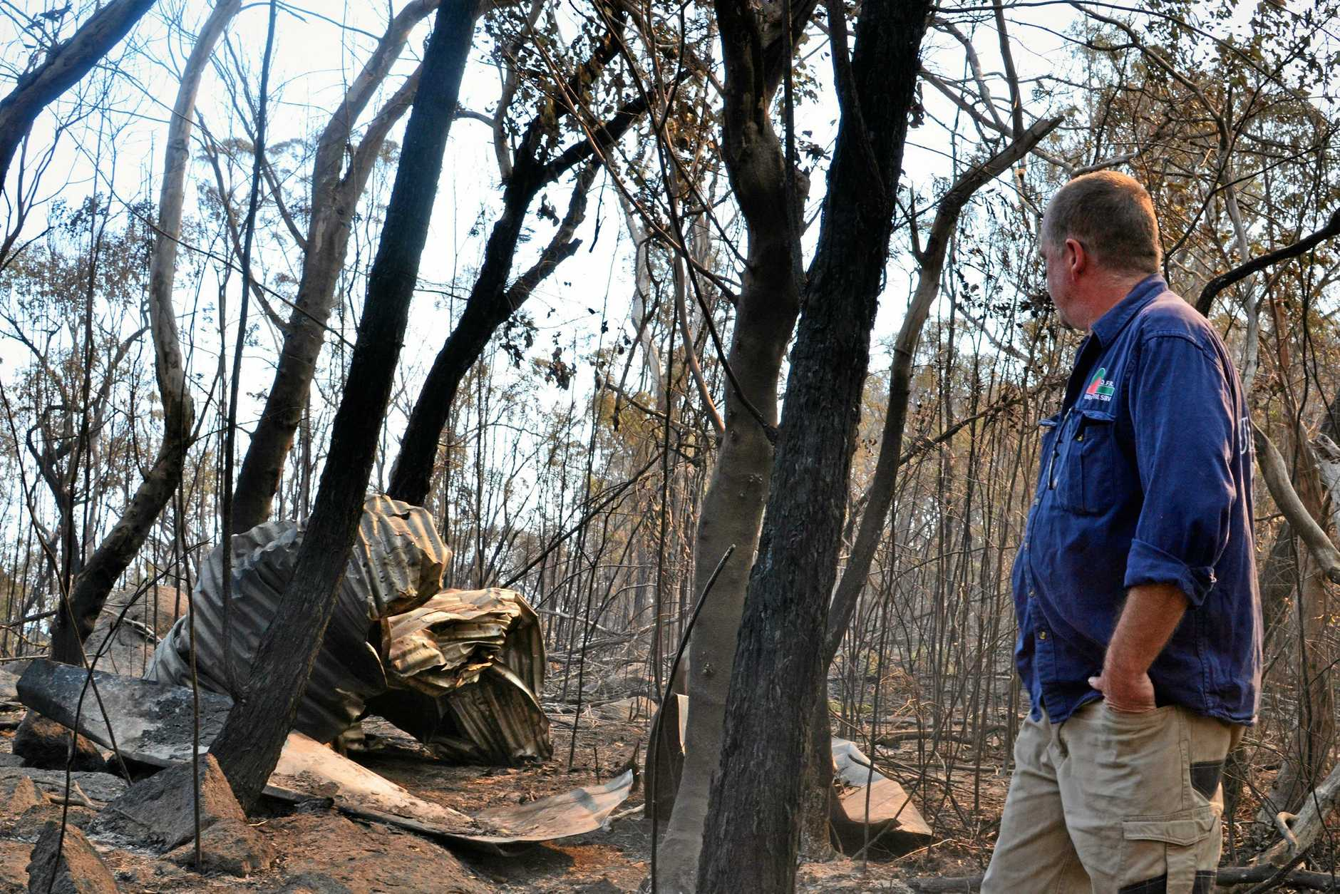 TOTAL DESTRUCTION: Graham Parker says fires are to be expected but caution could avoid further destruction.