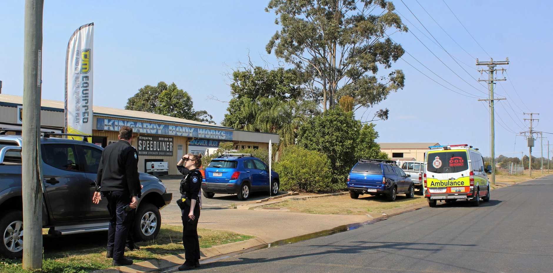 Queensland Police and Ambulance services responded to an incident at a local Kingaroy business.