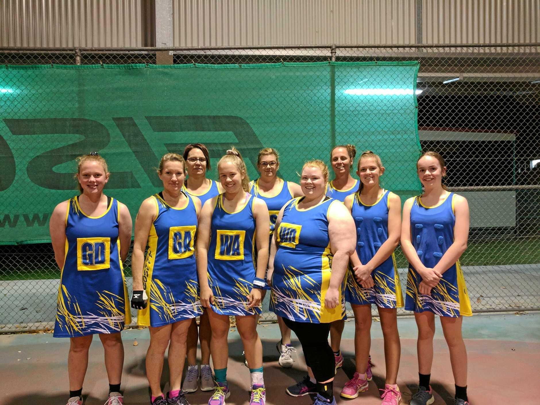 Gayndah Netball Senior competition team Allsorts, which fell just short of a grand final berth.
