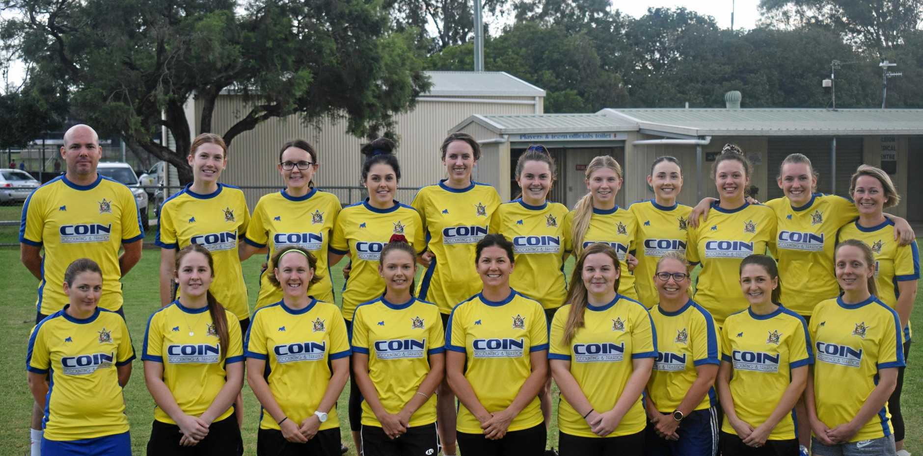 The 2019 Gympie United Gladiators women's squad.