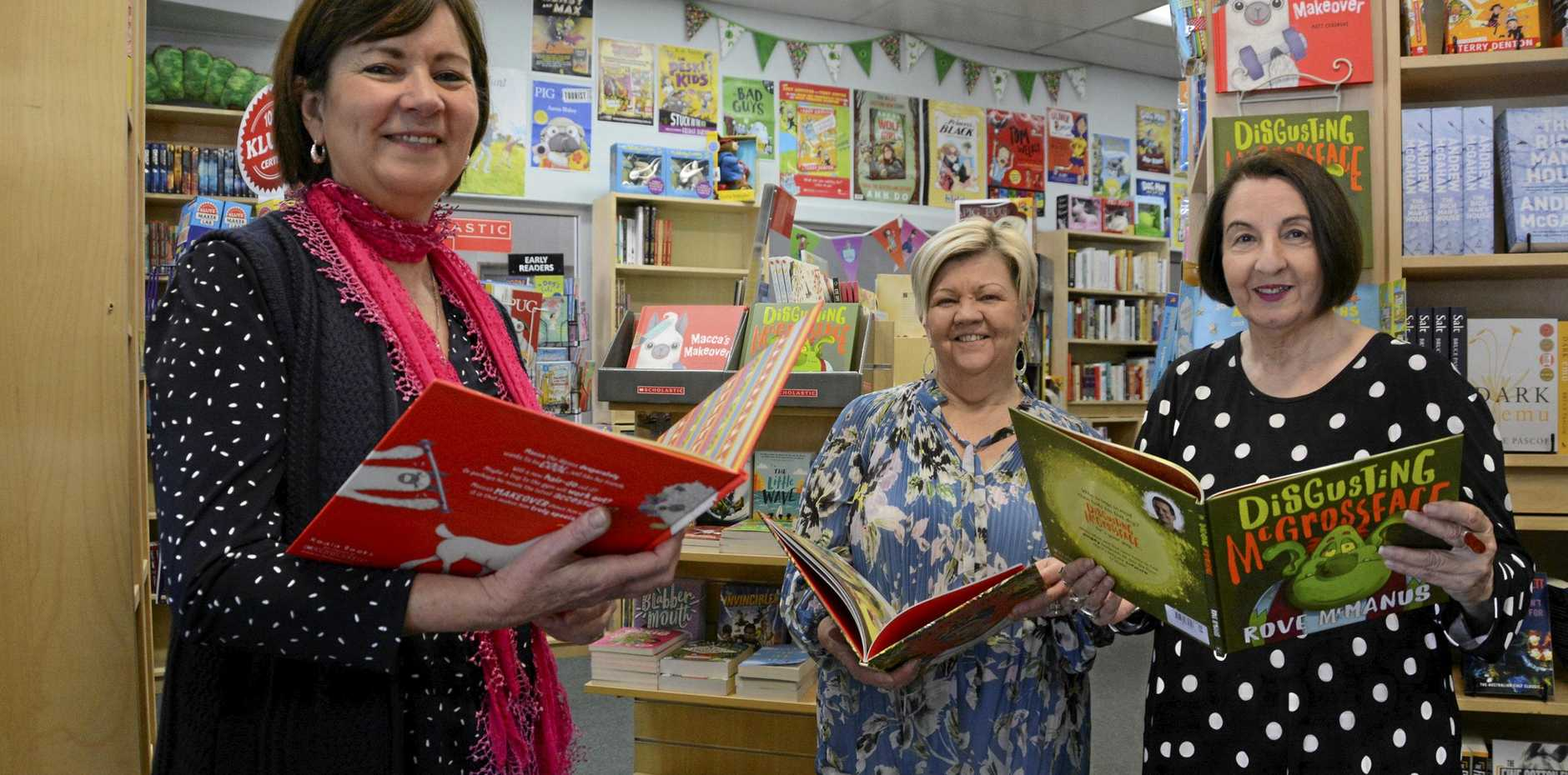 GOOD READS: Life-long fans of reading are (from left) The Book Tree owner Ann Hewitt, staff member Coleen Craddock and loyal customer Josephine Rice.