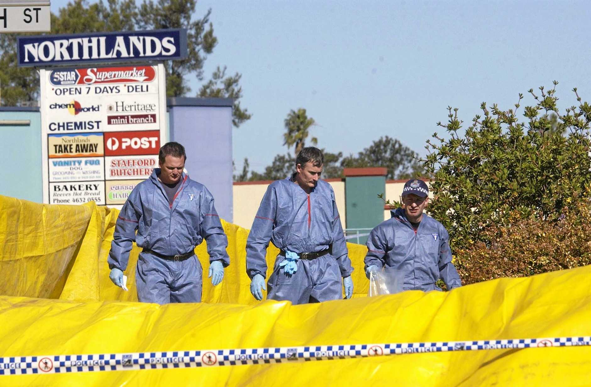 KILLER TEENS: The series will delve into eight cases in Toowoomba's history, including the brutal triple murder in a unit at the corner of Hume and North Sts in May, 2005 (pictured).