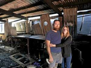 Community rallies for duo after 'terrifying' inferno