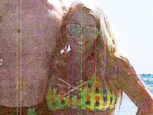 Pregnant bikini pic of accused baby killer