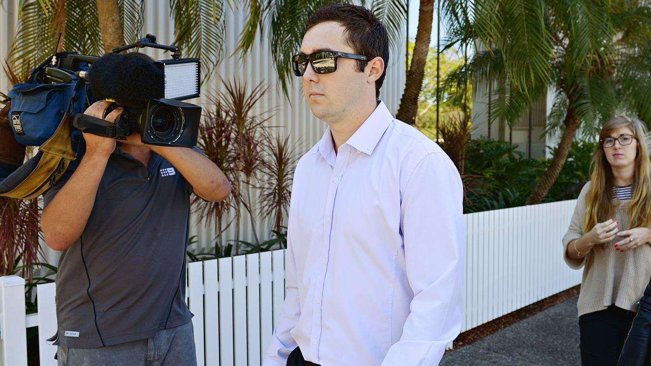 Matthew Alexander leaves Darwin Magistrates Court in 2015