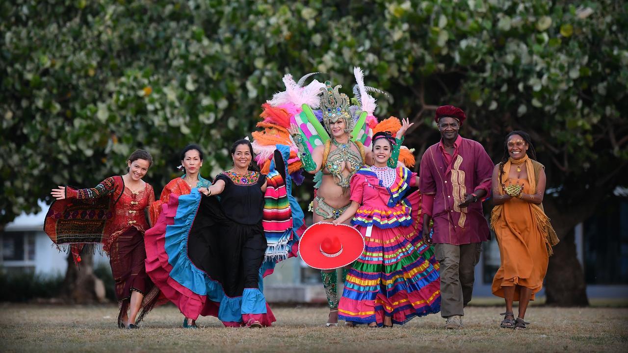 CELEBRATE: Serifina Hutahaean, Tumiar Hutahaean, Lupita Almanza, Jonna Skroce, Abril Tavira, Dominique Cisse and Gabrielle Quakawoot are ready for Festuri. Photo Patrick Woods