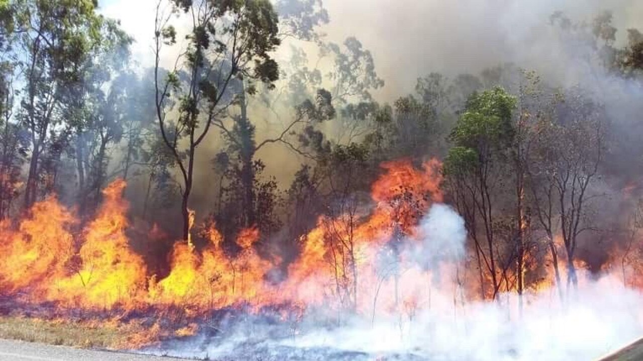 Multiple crews helped contain a fire at Yarwun on Sunday, September 8.