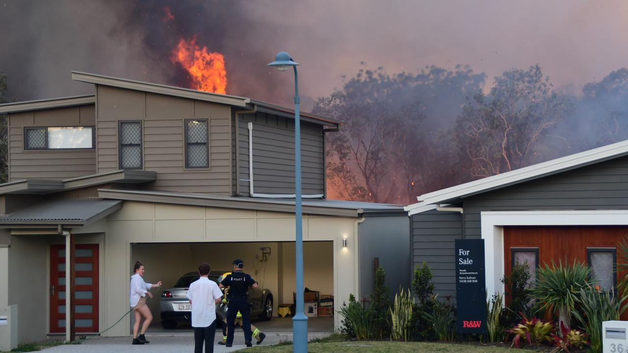000 caller and Peregian Springs resident Ian Martin captured the moment the fire started in the bush along Koel Circuit and then turned into a raging bushfire. Police are currently investigating the cause of the blaze.