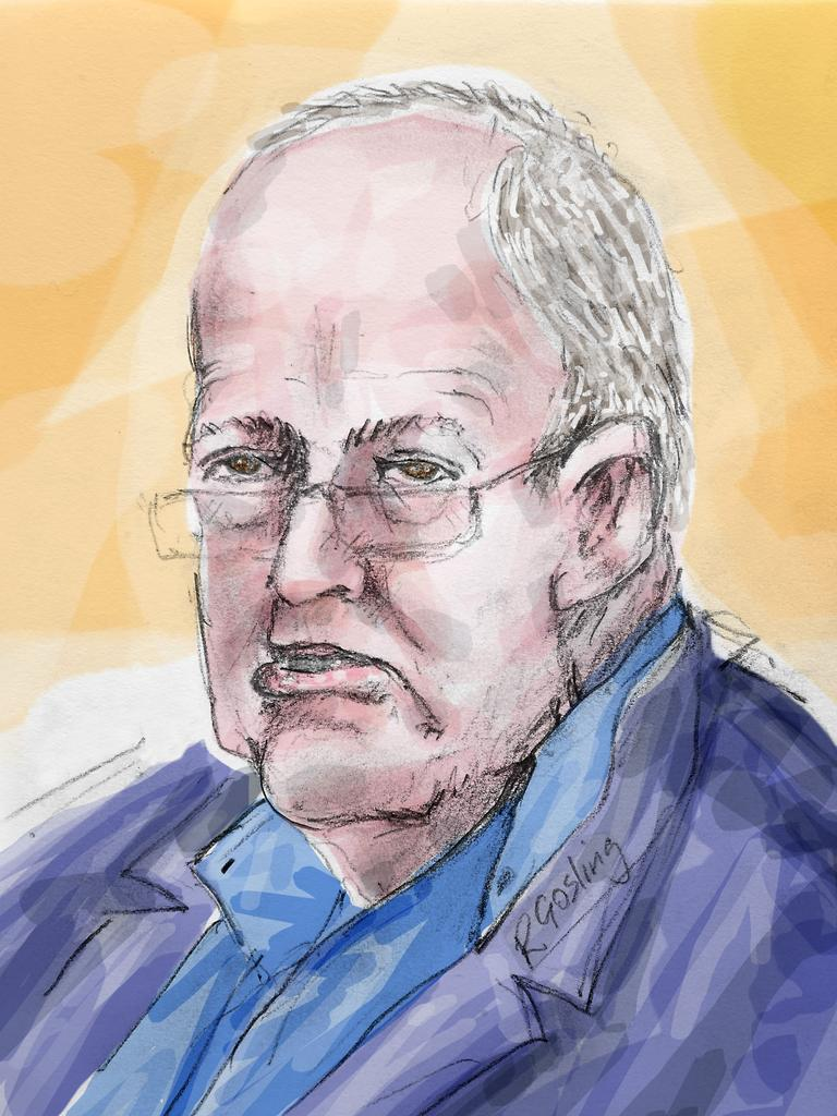 A sketch of John Chardon in court. Illustration: Richard Gosling
