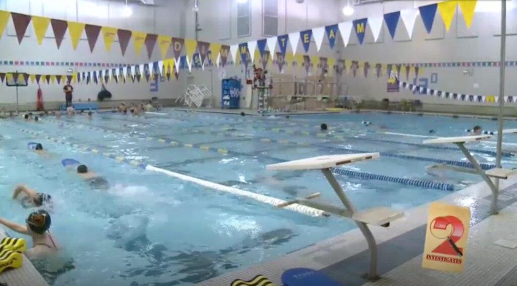 Anchorage's Dimond High School in Alaska swimming pool.