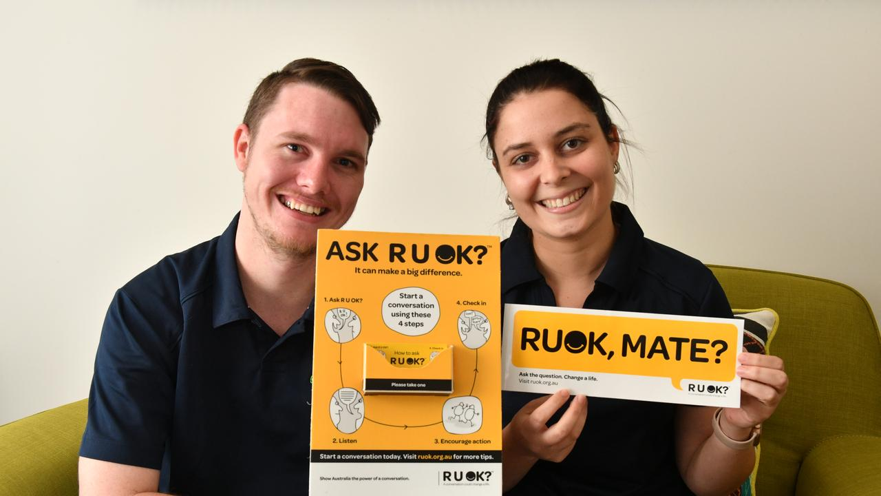 Roseberry's Headspace centre manager David Myles and care co-ordinator Jaye Garthwaite are encouraging people to have tough conversations on R U OK Day.