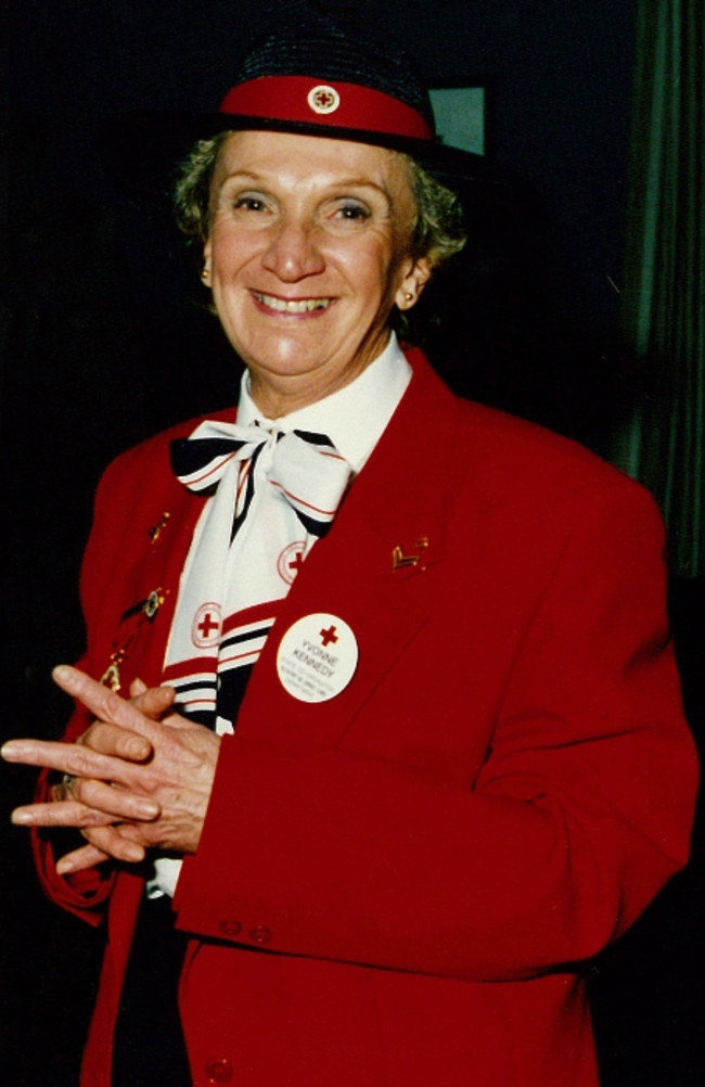 Yvonne Kennedy worked as a volunteer and staff member for the Red Cross for more than 30 years.