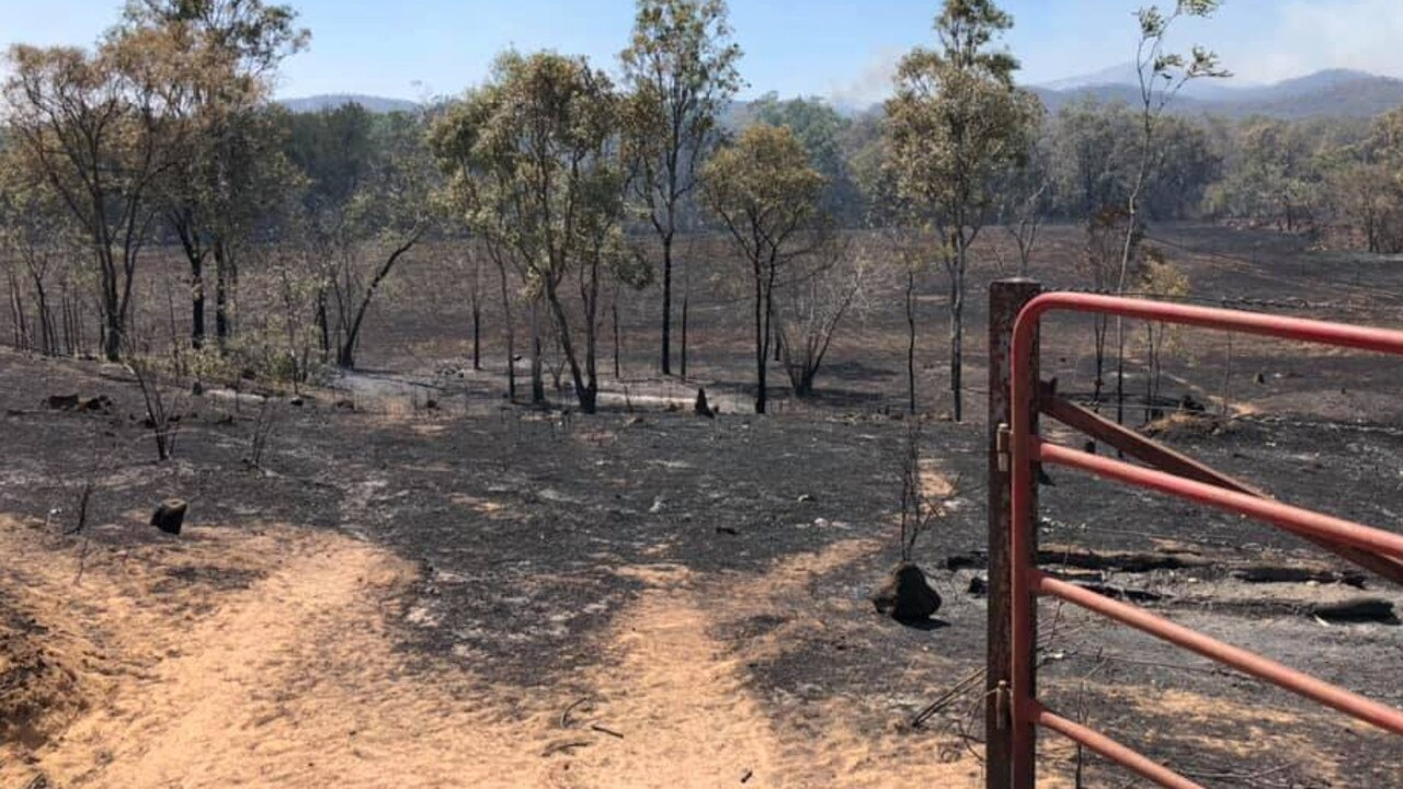 Fire damage from a bushfire on a property near Dimbulah. Photo: Tahna Jackson/Stockade Farm
