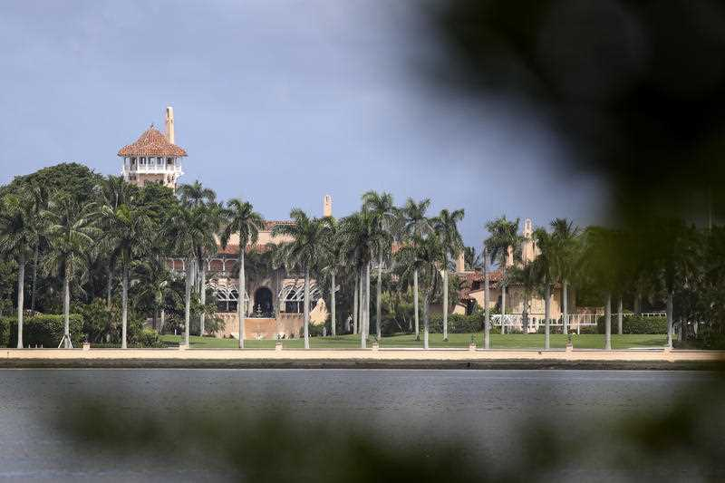 President Donald Trump's Mar-a-Lago resort is shown, Friday, Aug. 30, 2019, in Palm Beach, Fla. The resort is potentially sitting directly in the path of Hurricane Dorian, which is forecast to become an extremely destructive storm.