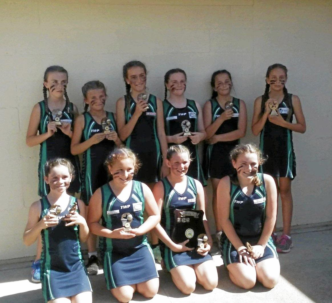 DIVISION 4 PREMIERS: Breakers Jets were the best Lower Clarence Netball's fourth division.