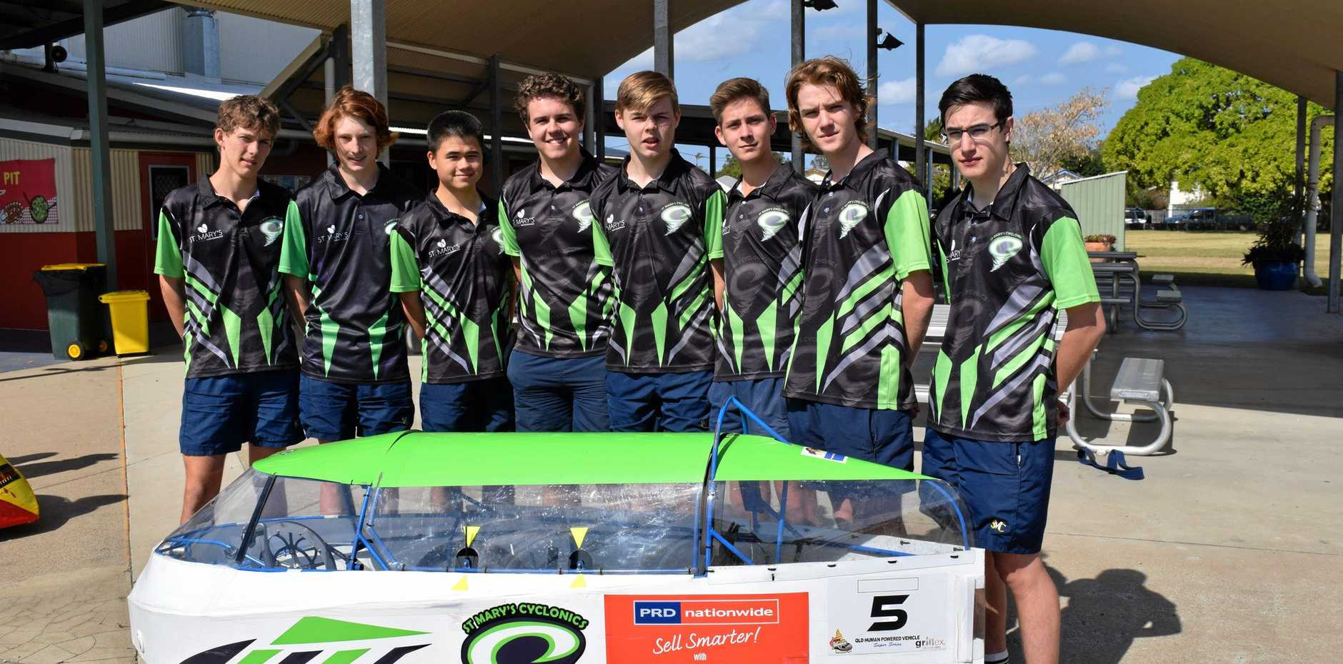 READY TO ROLL: St Mary's Cyclonics senior boys team are excited to attend this weekend's Fraser Coast Technology Challenge.