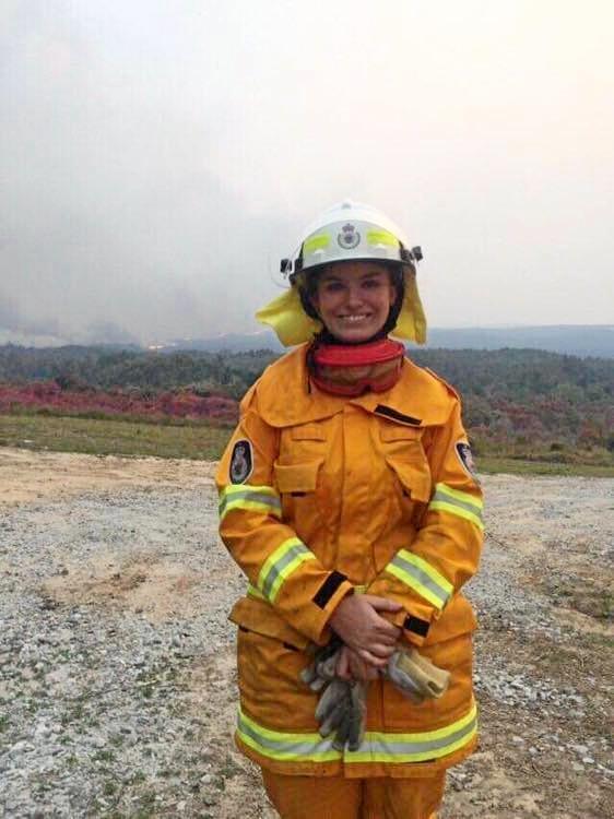 Maclean High's Sophie Ballard on the fireground