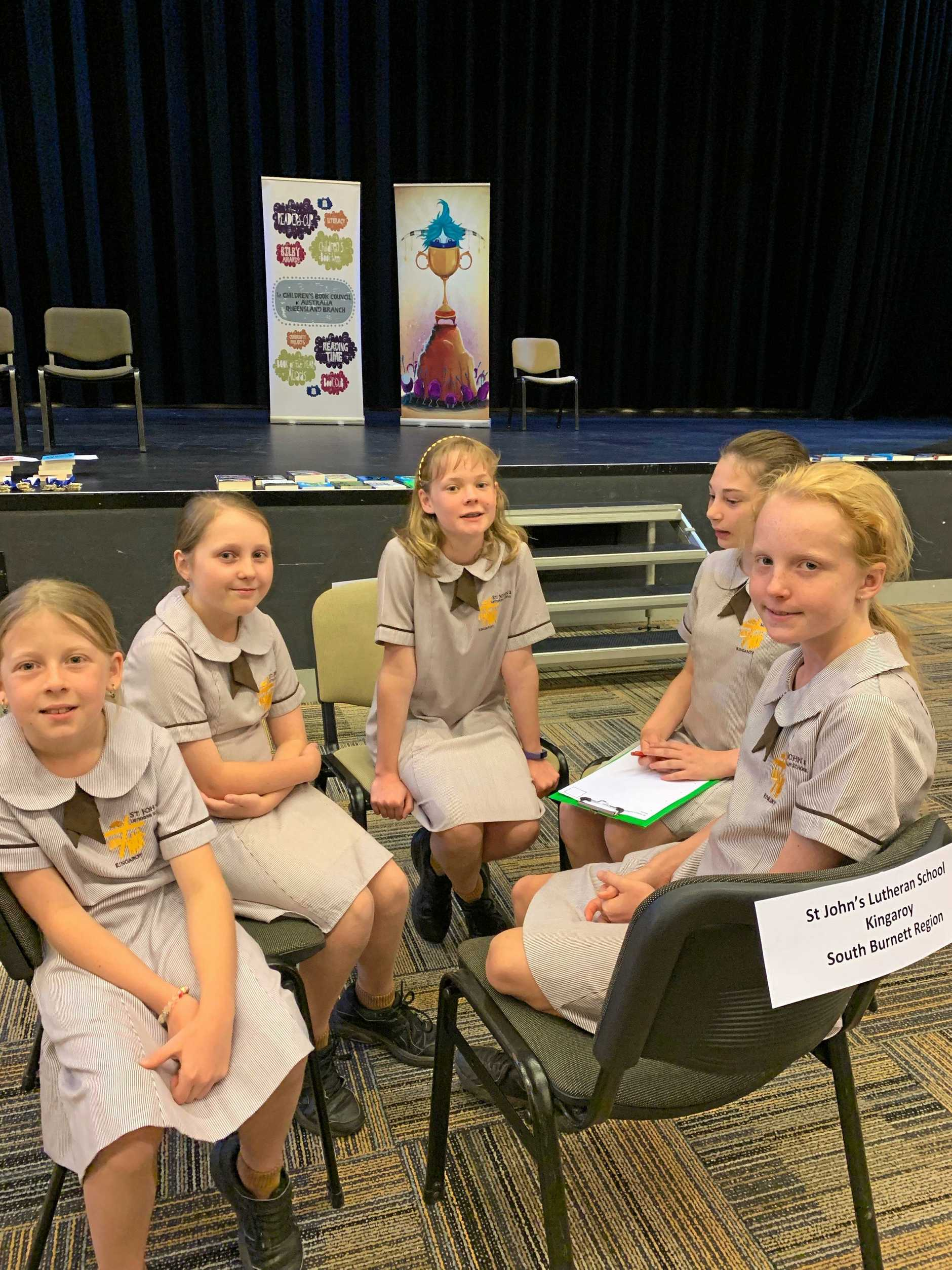 St John's Lutheran School Kingaroy's Reader's Cup team Kayleigh Johannesen, Beccy Sharp, Amelia Lonsdale, Aliyah and Miller Brown finished 15th in Queensland.