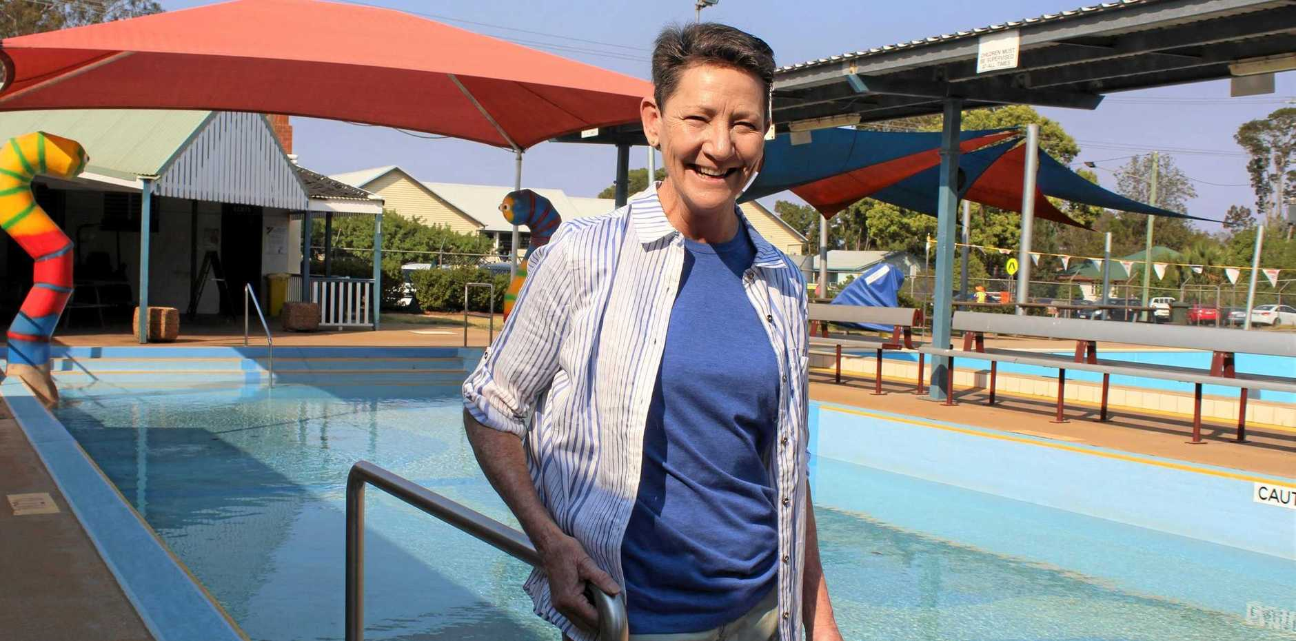 SUMMER DAYS: Kingaroy pool manager Terry Dunn is looking forward to another season on the pool deck.