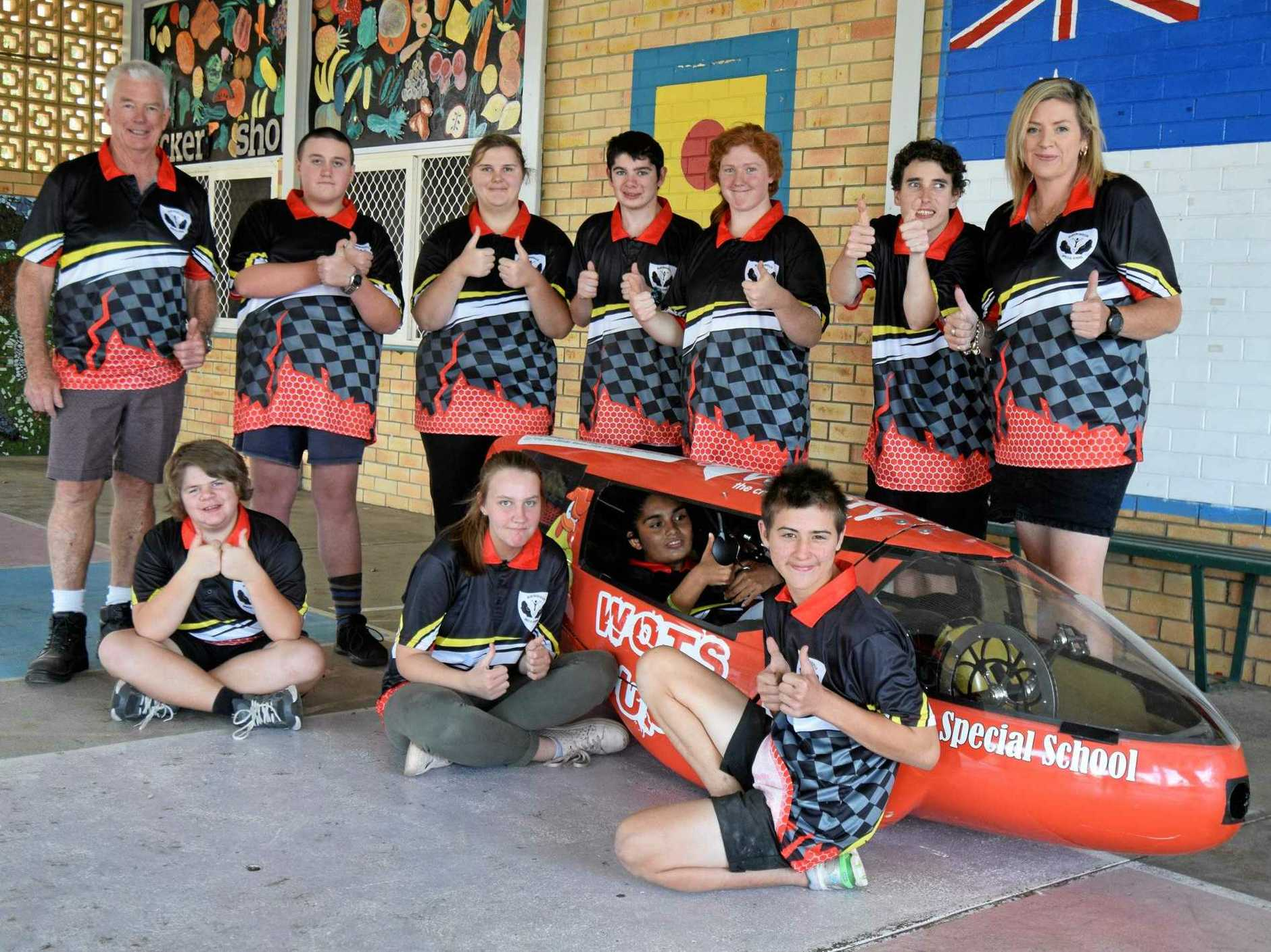 READY TO RACE: Maryborough Special School ready to race in the 24-hour HPV Tech Challenge this weekend.
