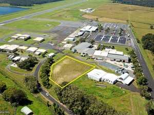 UNDER HAMMER: Prime industrial lot beside regional airport