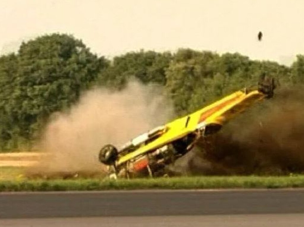Former Top Gear host Richard Hammond had a similar nasty crash.