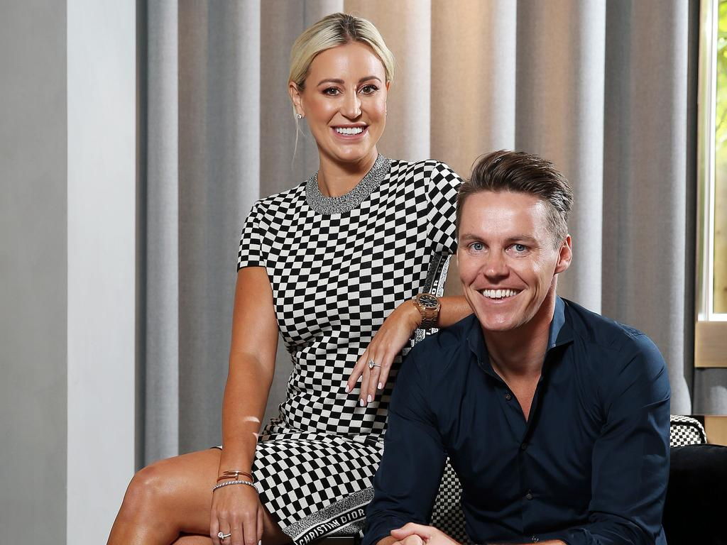 Roxy Jacenko and husband Oliver Curtis. Picture: Tim Hunter.
